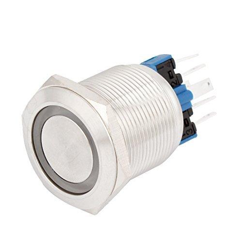Preisvergleich Produktbild 22mm Gewinde 12V SPDT Red LED beleuchtete Schieben Stromstoßschalter für Auto