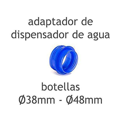 MovilCom® - Adaptador de tapón diámetro 38mm - 48mm para dispensador Agua para garrafas Compatible con Botellas (Pet) de 2,5, 3, 5, 6, 8 y 10 litros | para Botellas con el tapón diámetro 38mm y 48mm