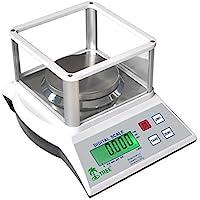 KHR-120-3 -- 100 g x 0,001 g Balanza de precisión económica, peso de calibración incluido, placa protectora de cristal, laboratorio universidades joyería escuelas