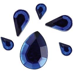 Rayher Acrylique de Strass Goutte, 6,10,14mm, sous Blister 310st¿œ CK, Bleu foncé
