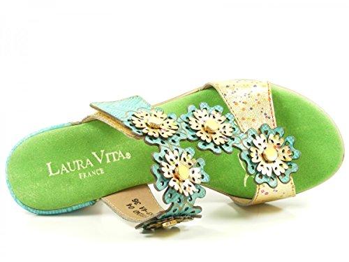 Laura Vita SL3063-4A Bettino 04 Schuhe Damen Sandalen Pantoletten Grün