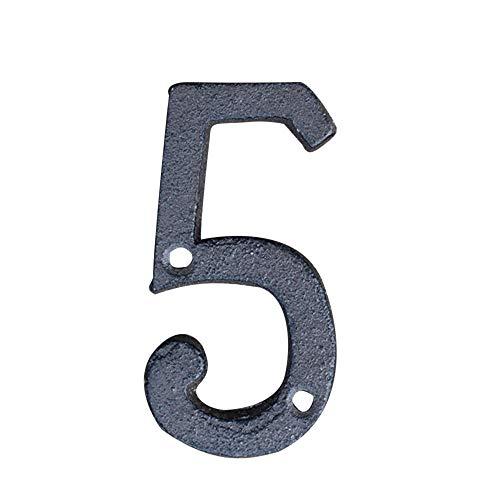 DIY Número de casa Letra del Alfabeto de Direcciones Hierro Fundido Letras de Metal Decoración de Pared para Cafe Jardín Buzón Hogar o Números de Teléfono, Tornillos incluidos