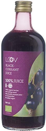 Succo di Ribes Nero (Ribes Nigrum) Biologico, 500 ml, Succo al 100%, Senza Zucchero, Senza Aggiunta di Acqua, Bacche ad Alto Contenuto di Vitamina C, Raccolte Nell'Europa Settentrionale