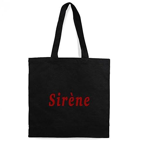 Le Baiser Des Sirenes - Tote Bag Sujata Noir 'Sirène' - 8