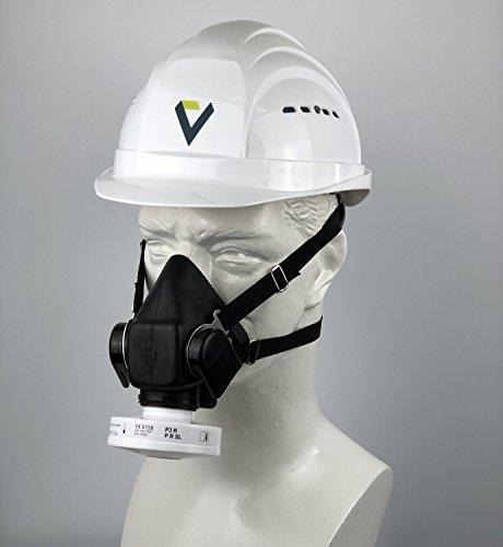 BartelsRieger Profi Atemschutz-Set für Bau und Handwerk / Viertelmaske + P3 R Filter