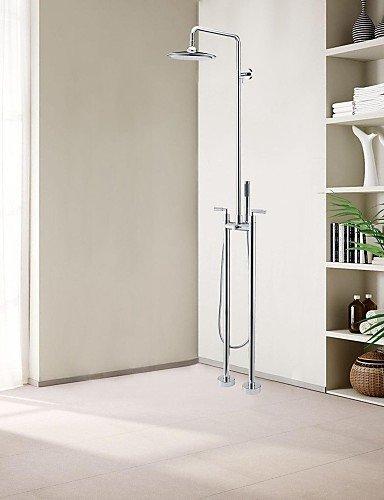 CELO Duscharmaturen - Zeitgenössisch - Handdusche inklusive / Bodenstand - Messing (Chrom)
