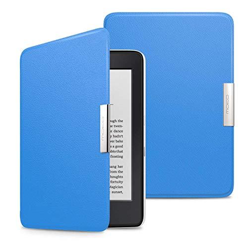 MoKo Kindle Paperwhite Hülle - Ultra Leightweight Slim Schutzhülle Smart Cover mit Auto Sleep / Wake Funktion für Alle Kindle Paperwhite (2016 / 2015 / 2013 Modelle mit 6 Zoll Bildschirm), Nicht Kompatibel für All-new Paperwhite 10th generation 2018, Blau