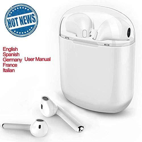 Bluetooth-Kopfhörer, Bluetooth-Ohrhörer, kabelloses Headset mit Mini-Bluetooth-Kopfhörer, staubdichtes, schweißfestes Noise Cancelling-Headset mit for iPhone Samsung (Bluetooth-kopfhörer Für Iphone)