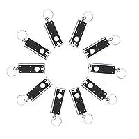 Porte-clés Lumineux Mini Lampe de Poche Clef Clé de Voiture Moto Lampe Toche pour Camping Randonée - Lot de 10
