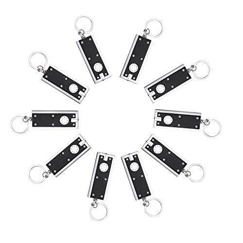 Preisvergleich Produktbild Schlüsselanhänger Lampe 10/Pack, MECO mini flashlight LED Camping Schlüsselring Taschenlampe,Bewegliche dünne & Kleine grelle helle Fackel Lampen-Schlüsselkette,, 45 lumen micro Licht