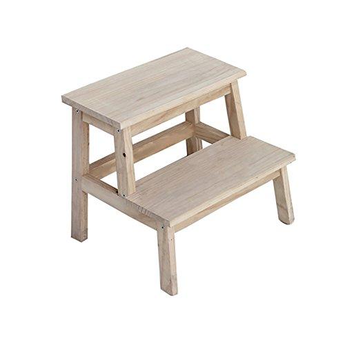 ChangDe Holzstufenhocker Küche Holz klein 2 Tread Step Hocker Haushaltswaren kleine Hocker Wohnzimmer Fußbank Schuhbank Trittleiter aus Holz (Size : 40 * 24 * 50cm)