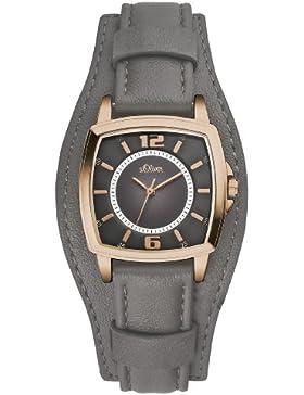 s.Oliver Damen-Armbanduhr XS Analog Quarz Leder SO-2905-LQ