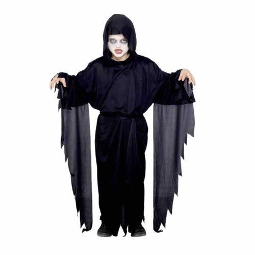 Kostüme Ship Kinder Halloween Von Ghost (Smiffys Kinder Screamer Geist Kostüm, Robe mit Kapuze und Gürtel, Größe: M,)