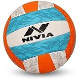 Nivia 497 Curve Volleyball -18 Pannel, Size 4 (Multicolour)