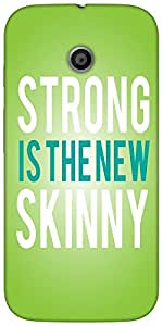 Snoogg Strong Is The New Skinnysolid Snap On - Back Cover All Around Protecti...