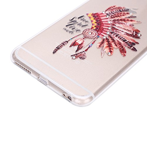 Custodia iPhone 7, Cover iPhone 8 Trasparente, Brillantini Cover Custodia in Silicone per iPhone 7 / 8 Apple, Surakey Belle Elegante Custodia con Glitter Sottile e Morbida TPU Gomma Case Colorate Blin Piuma A