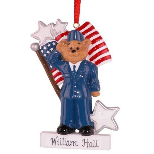 Personalized Soldier american army Christmas Holiday Gift Expertly Handwritten Ornament by Rudolf & Me -