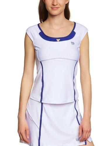 WILSON ball buster casquette de tennis pour femme manches courtes Blanc - Blanc