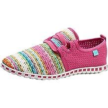 beautyjourney Zapatillas de Hilado de Colores Planos, Zapatillas de Deporte de Malla Transpirable para Mujer