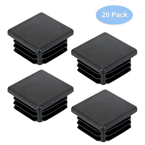 para patas de mesa de muebles de 1,7 a 1,9 cm cuadradas Sourcingmap de 20 x 20 mm Tapas de pl/ástico para inserciones de tubo acanalado