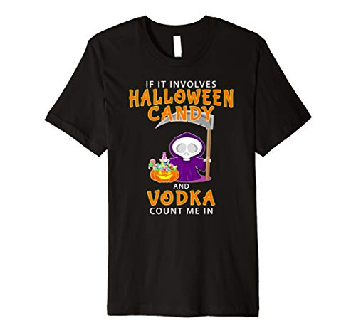 (Lustiges Halloween Party Alkohol Vodka T-Shirt)