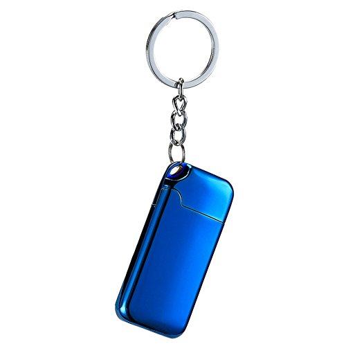 Sun Lighter Feuerzeug mit Heizdraht, USB-aufladbar, elektronischer Wolfram-Draht, Zigarettenanzünder mit Schlüsselanhänger, Flammenlos, windfest, blau