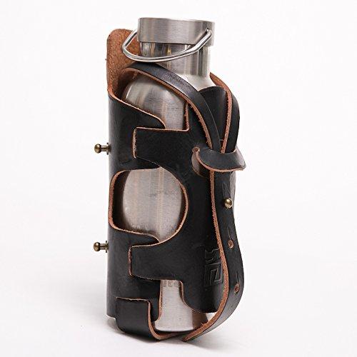 Glam Serial Flasche Käfig–handgefertigt von Italien echtem Leder und anilines schwarz lackiert Farbe, Universal Fit (Flasche Handgefertigte)