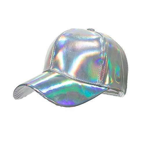 YanLong Mode Hip-Hop Hut für Regenbogen Farbwechsel Hut Cap Zurück in die Zukunft Prop Bigbang G-Dragon Baseball Cap Weiß (Zurück In Die Zukunft-kostüm)