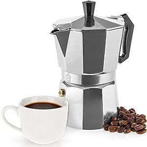 Savisto Espresso Maker - Italian Style Moka Pot - Traditional Stovetop Coffee Maker, Aluminium