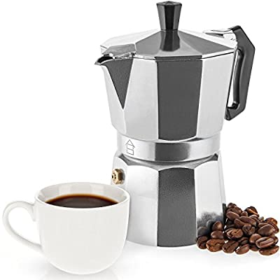 Savisto Espresso Maker - Italian Style Moka Pot - Traditional Stovetop Coffee Maker, Aluminium