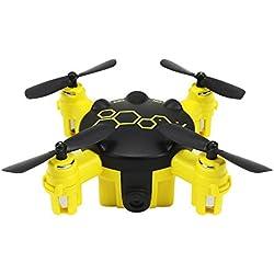 Jiayuan Cewaal FQ04 Mini Pocket Drone con cámara de video en vivo, 3D Flips teledirigido sin cabeza modo Quadcopter Drone Toys