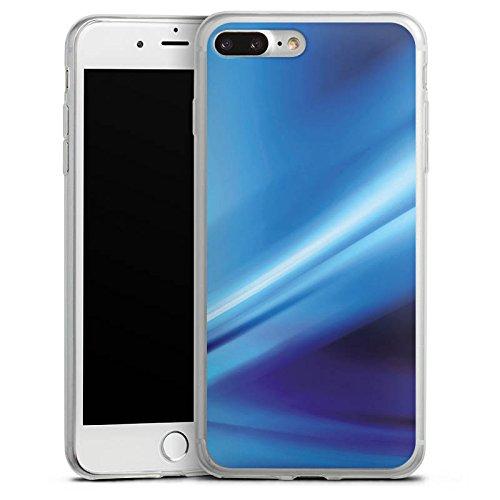 Apple iPhone 8 Slim Case Silikon Hülle Schutzhülle Verlauf Luft Blau Silikon Slim Case transparent