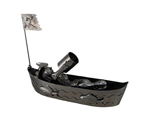 pirata su una barca Recycled Steel Wine Bottle Holder