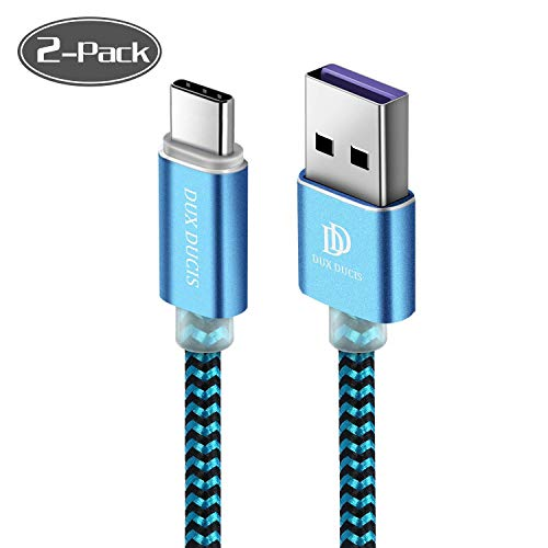 DUX DUCIS Cable [1M-2 Pack] para Huawei P30 / Huawei P30 Pro/Huawei P30 Lite, Cargador USB Tipo C de Nylon Trenzado Cable para Todos los Dispositivos Huawei Type-C