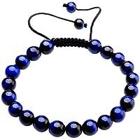 JSDDE verstellbares Armband für Damen/Herren, handgefertigt, Makramee, Quasten, Reiki-Heilsteine/natürliche Kristall-Perlen preisvergleich bei billige-tabletten.eu