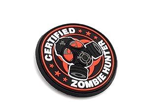 "Patch Velcro Airsoft en PVC ""Certified Zombie Hunter"""