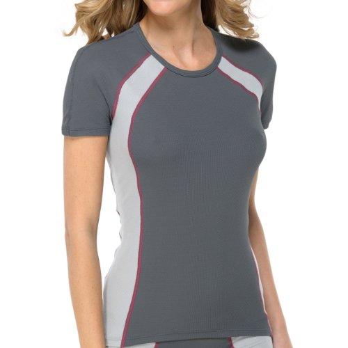 SCHIESSER Damen Rundhals T-Shirt Extreme Sport 2er Pack Grau (203-anthrazit)