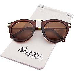 AMZTM Katzenauge Mode Metall Pfeile Polarisiert Damen Wayfarer Sonnenbrille Retro Fahren Cateye Brille