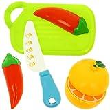 Promobo - Set Chef Kaffeemühle Spielzeug Kinder Küche Gemüse zu schneiden Orange