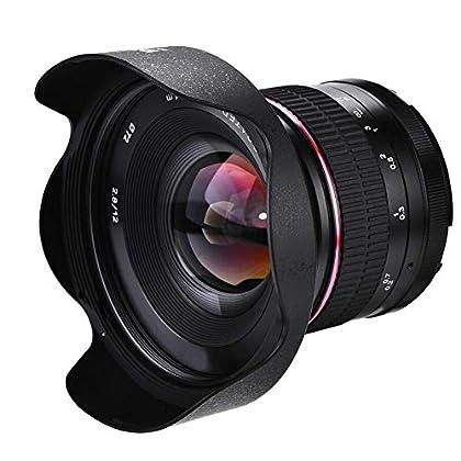 Elerose Lente de Enfoque Manual Ultra Gran Angular para Cámara sin Espejo,12mm F2.8(Canon)