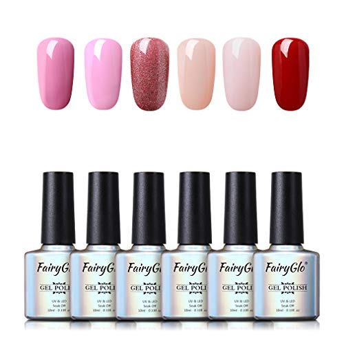 Fairyglo 3en 1 Esmaltes Semipermanentes Gel UV LED