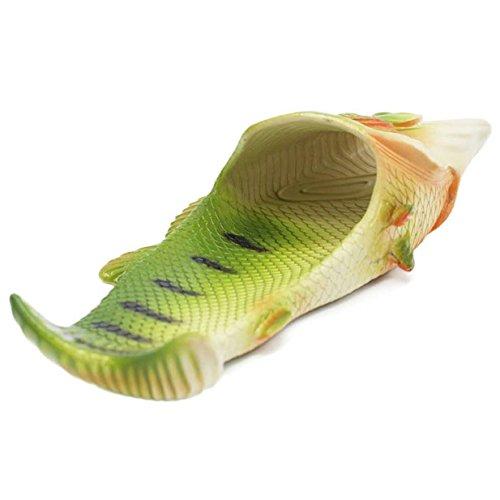 Lalang Fisch Hausschuhe Sommer Strand Pantoffeln Kreative Gift Eltern-Kind Liebhaber Gift Strand Pantoffeln für Damen & Herren Geburtstagsgeschenk (38/39 EU) - 3