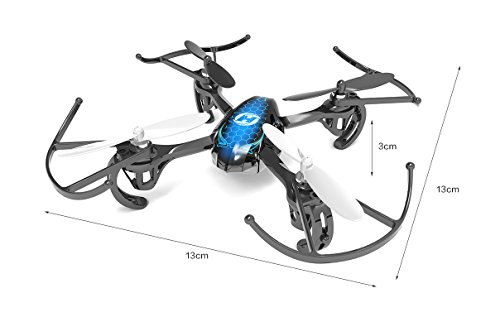 DeeRC Predator Mini RC Quadcopter Drone 2.4Ghz 6 Axis Gyro R/C Serie 4 Channels RTF Helicopter HS170 Best Choice for Kids and Beginners