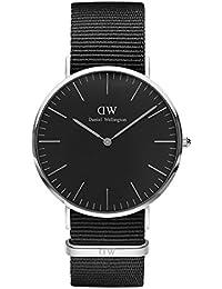 Daniel Wellington Unisex-Armbanduhr CLASSIC BLACK Analog Quarz Textil DW00100149