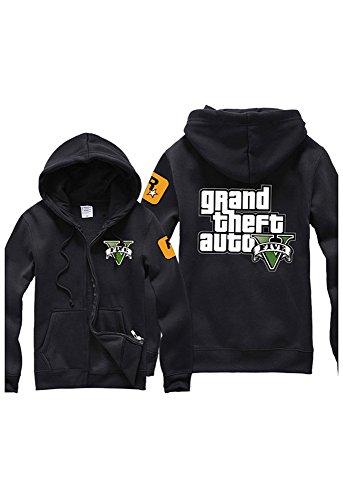 Preisvergleich Produktbild GTA5 Kapuzenjacke Hoodie Grand Theft Auto V Pullover mit Kaputze Kostüm Cosplay L