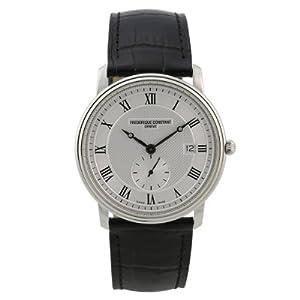 Fred erique Constant Reloj de pulsera de caballero XL Slim Line analógico de cuarzo piel FC de 245m5s6 de Frederique Constant