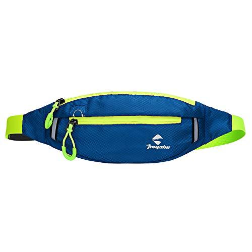 Outdoor wasserdicht Nylon Sport Lauftaschen Fitness Handytasche Multifunktions persönlichen Reitrucksack dunkelblau