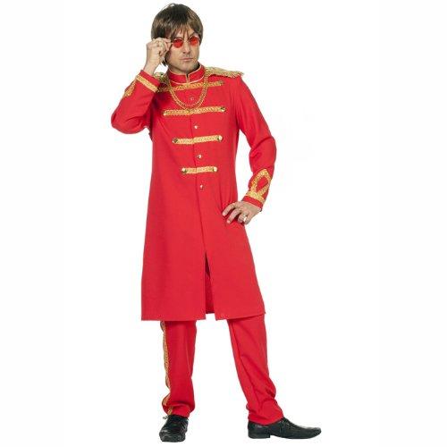 Sgt Kostüm Pepper's (NEU Herren-Kostüm Sgt. Pepper, rot Gr.)