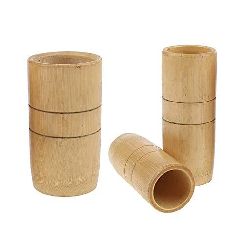 IPOTCH 3x Copas succión de bambú SPA Masaje Relajarse Cuidado de Cuerpo