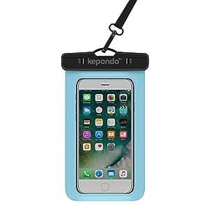 """Kepondo Wasserdichte Handyhülle Tasche Beutel, Schneegeschützt Tauchen, IPX8-zertifiziert (30m Tiefe), für iPhone X, 8, 8 Plus, 7, 7 Plus, Samsung Galaxy S9, S8, jedes Gerät bis zu 6.0"""" (Blau)"""